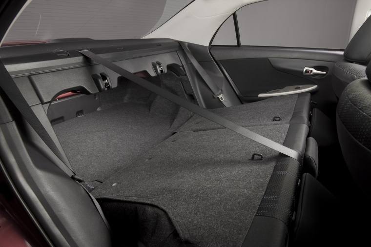 2013 Toyota Corolla S Rear Seats Folded Picture