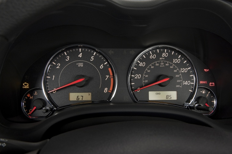 2013 Toyota Corolla S Gauges Picture