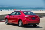 2014 Toyota Corolla LE in Barcelona Red Metallic - Static Rear Left View