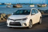 2016 Toyota Corolla LE Eco in Blizzard Pearl from a front left view