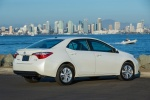 2016 Toyota Corolla LE Eco in Blizzard Pearl - Static Rear Right Three-quarter View