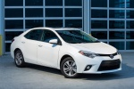 2016 Toyota Corolla LE Eco in Blizzard Pearl - Static Front Right Three-quarter View
