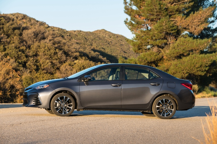 2017 Toyota Corolla XSE in Falcon Gray Metallic from a left side view