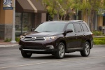 2013 Toyota Highlander Limited V6 in Sizzling Crimson Mica - Driving Front Left Three-quarter View