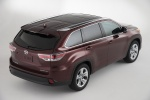 2014 Toyota Highlander Limited AWD in Ooh La La Rouge Mica - Static Rear Right Three-quarter Top View