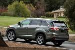 2015 Toyota Highlander Hybrid Limited AWD in Alumina Jade Metallic - Static Rear Left Three-quarter View