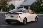 2018 Toyota Prius Two in Super White - Static Rear Right View