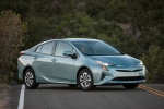 2018 Toyota Prius Three in Sea Glass Pearl - Static Front Right Three-quarter View