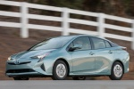 2018 Toyota Prius Three in Sea Glass Pearl - Driving Front Left Three-quarter View