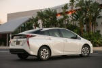 2018 Toyota Prius Two in Super White - Static Rear Right Three-quarter View