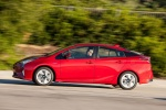 2018 Toyota Prius Four in Hypersonic Red - Driving Left Side View