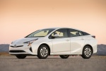 2018 Toyota Prius Two in Super White - Static Front Left Three-quarter View