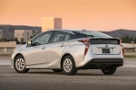 2018 Toyota Prius Two in Super White - Static Rear Left Three-quarter View