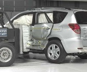 2010 Toyota RAV4 IIHS Side Impact Crash Test Picture