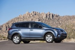 Picture of a 2014 Toyota RAV4 in Shoreline Blue Pearl from a front right three-quarter perspective