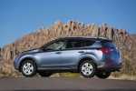 Picture of a 2014 Toyota RAV4 in Shoreline Blue Pearl from a rear left three-quarter perspective