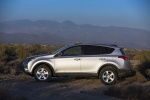 Picture of a 2014 Toyota RAV4 XLE in Classic Silver Metallic from a side perspective