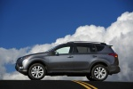Picture of a 2014 Toyota RAV4 Limited in Magnetic Gray Pearl from a side perspective