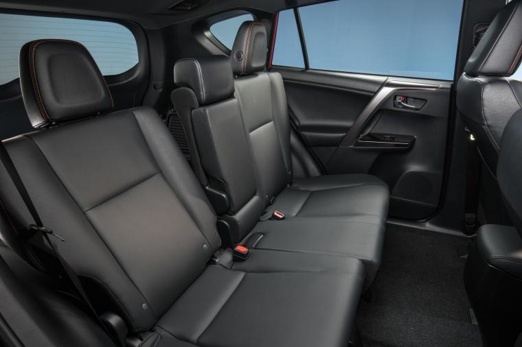 2017 Toyota RAV4 SE AWD Rear Seats Picture