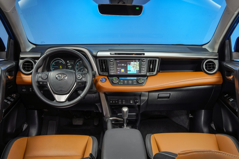 Picture of a 2017 Toyota RAV4 Hybrid Limited AWD's Cockpit