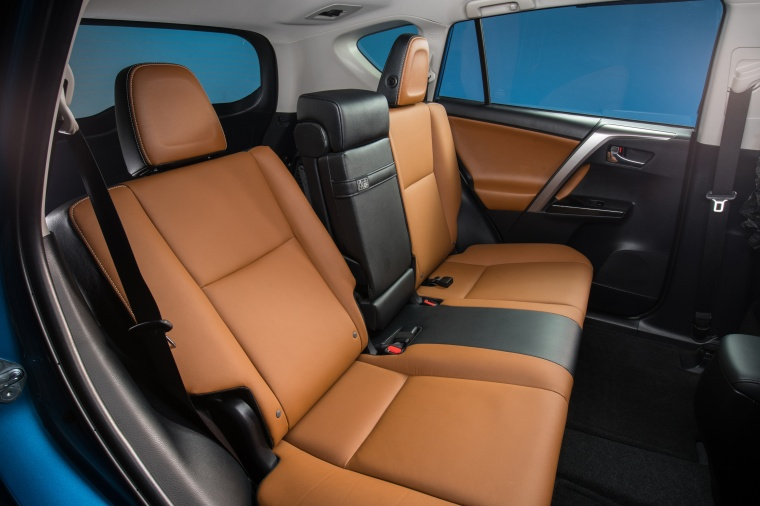 Picture of a 2017 Toyota RAV4 Hybrid Limited AWD's Rear Seats