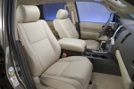 Picture of 2010 Toyota Sequoia Front Seats in Sand Beige