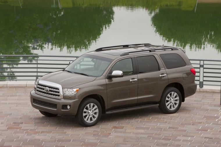 2012 toyota sequoia in pyrite mica color static front left view picture image. Black Bedroom Furniture Sets. Home Design Ideas