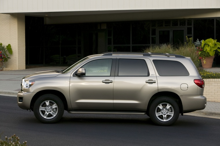 2012 toyota sequoia in sandy beach metallic color static left side view picture image. Black Bedroom Furniture Sets. Home Design Ideas