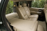 2016 Toyota Sequoia Third Row Seats Folded in Sand Beige