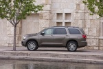 Picture of a 2016 Toyota Sequoia in Pyrite Mica from a left side perspective