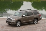 Picture of a 2016 Toyota Sequoia in Pyrite Mica from a front left perspective