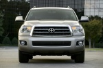 Picture of a 2016 Toyota Sequoia in Sandy Beach Metallic from a frontal perspective