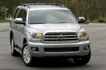Picture of a 2016 Toyota Sequoia in Silver Sky Metallic from a frontal perspective