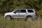 Picture of a 2016 Toyota Sequoia in Silver Sky Metallic from a left side perspective