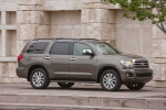 Picture of a 2017 Toyota Sequoia in Pyrite Mica from a front right three-quarter perspective