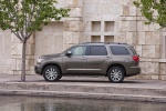 Picture of a 2017 Toyota Sequoia in Pyrite Mica from a left side perspective