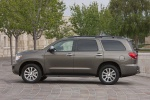 Picture of a 2017 Toyota Sequoia in Pyrite Mica from a side perspective