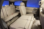 Picture of a 2017 Toyota Sequoia's Rear Seats in Sand Beige