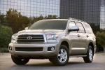 2017 Toyota Sequoia in Sandy Beach Metallic - Static Front Left Three-quarter View