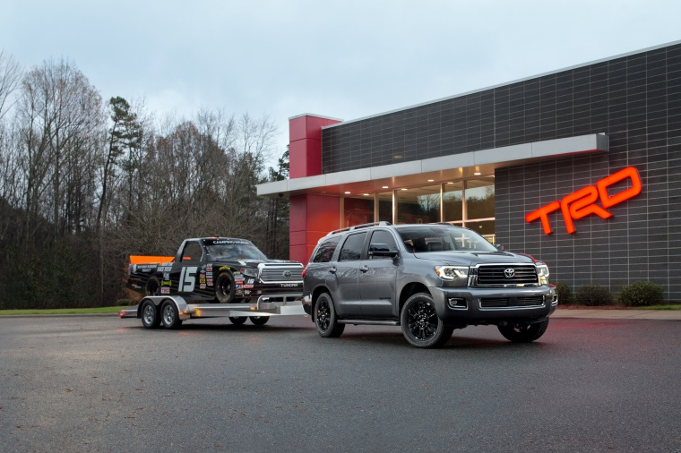2018 Toyota Sequoia TRD Sport with trailer Picture