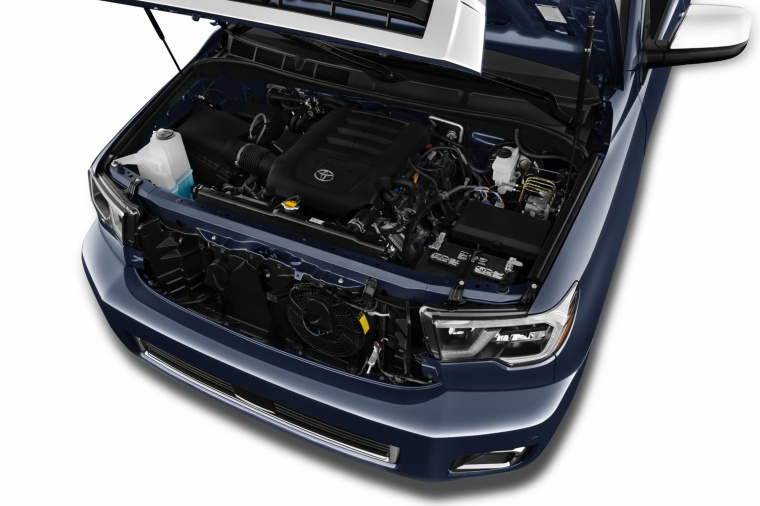 Picture of a 2018 Toyota Sequoia's 5.7-liter V8 Engine