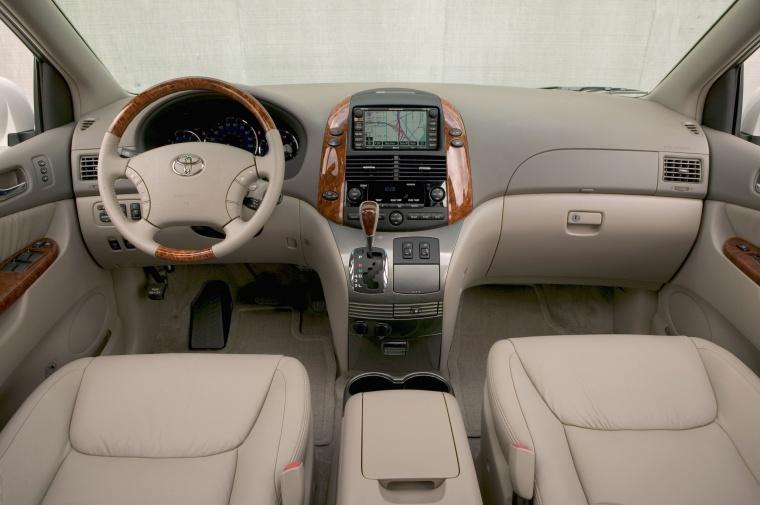 2010 Toyota Sienna Cockpit In Taupe Color Picture Image