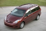 2010 Toyota Sienna LE in Salsa Red Pearl - Static Front Left Three-quarter Top View