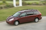 2010 Toyota Sienna LE in Salsa Red Pearl - Driving Left Side Top View