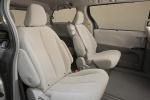 Picture of 2011 Toyota Sienna LE Middle Row Seats in Light Gray