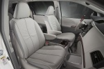 Picture of 2012 Toyota Sienna Limited Front Seats in Light Gray