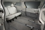 Picture of 2012 Toyota Sienna Limited Rear Seats in Light Gray