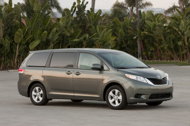 2013 Toyota Sienna LE in Predawn Gray Mica from a front right three-quarter view