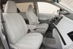 Picture of 2013 Toyota Sienna LE Front Seats in Light Gray