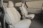 Picture of 2013 Toyota Sienna LE Middle Row Seats in Light Gray
